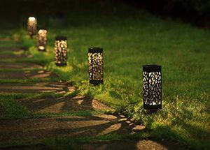 NUEVA 8pcs jardín al aire libre solar de luz accionada solar del jardín del LED luces, LED automática de Patio, Patio y Jardín