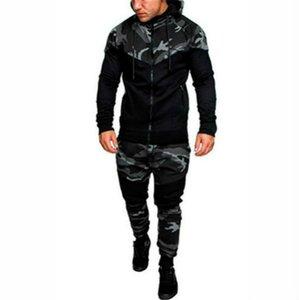 Mens Fashion capuche camouflage Survêtements Designer Vêtements Pantalons lambrissé Sweats Ensembles Pull Tenues Vêtements pour hommes