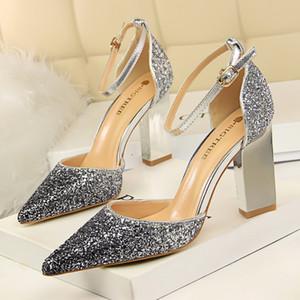 Glitter topuklu mary jane ayakkabı kadınlar yüksek topuklu fetiş yüksek topuklu kadın pompaları düğün ayakkabı ofis ayakkabı kadın zapatos de mujer scarpe donna