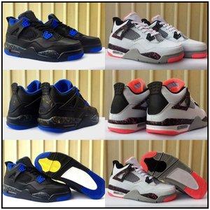 New Hot Lava Jumpman 4 4s Kids Basketball shoes Men Mens Pure Money Black Laser Cavs Black Dunk From Above shoes