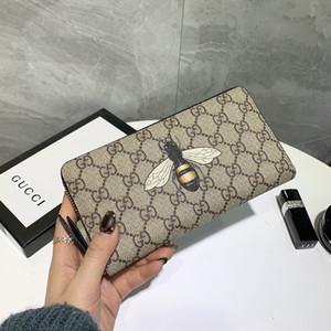 Gucci wallet nova alta qualidade por atacado 1.1 animais longa zipper e mulheres de pele de cobra titular do cartão tigre abelha carteira caixa original hococal