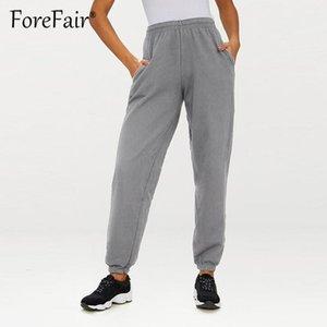 Forefair 2018 Pantaloni Casual Donna Sportswear Pantaloni di tuta allentati Pantaloni sportivi Pantaloni Nero Grigio Bianco Pantaloni sportivi