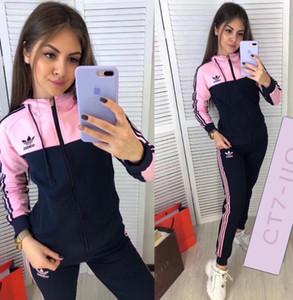 New alta qualidade cor correspondente de moda moda feminina correndo terno do lazer dois ao ar livre esportes terno peça das mulheres
