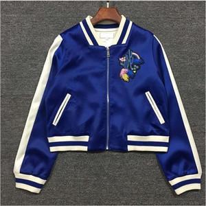 Moda- quebra-vento Revestimentos das mulheres primavera bordado jaqueta de piloto Blusas femininas Chaquetas causais Moletons bomber jacket mujer