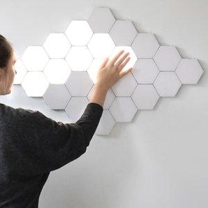 Lámpara de pared moderna LED Art Loft británica creativa de nido de abeja de ensamble modular Helios Lámparas Lámpara táctil cuántico magnético Luz a la pared