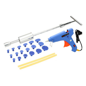 Hot Melt Glue Gun with Glue Sticks Slide Hammer Puller Tabs Electric Heat Guns for Car Body Dent Repair 100W US Plug