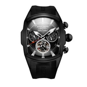 Reef Tiger мужские автоматические часы, мужские наручные часы мужские наручные часы спорт montre часы черные часы