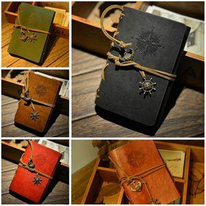 Gros-Vintage en cuir assortis pages vierges pour ordinateur portable note Journal Diary # 70498