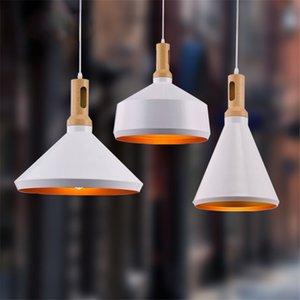 Nordic restaurant pendant lights modern minimalist office chandelier aluminum single head small chandelier three industrial wind bar light