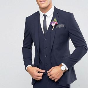 Men's suits men's suit three-piece suit (jacket + pants + vest) men's prom party dress wedding groom groomsmen dress custom