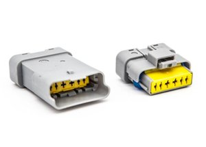 시트로엥 푸조 르노 무료 배송 40sets 키트 FCI 6 핀 남성 여성 회색 가속 페달 자동차 커넥터