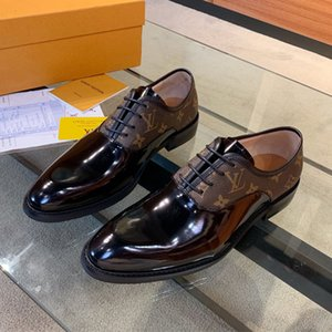 zapatos de cuero de lujo de los hombres de FashionDesigner con cordones VARENNE ocio zapatos de vestir zapatos del negocio de los hombres del banquete de boda de lujo Tamaño 39-45