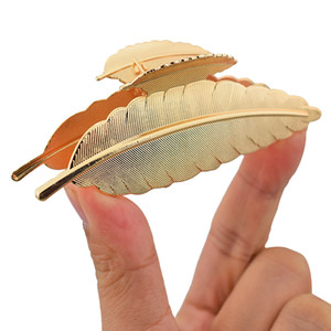 Clips Gold Leaf Hair Claw pour femmes Accessoires crabe métal Trendy Hairpin Clamp Hairclip Filles Nouveau mode Cadeaux de bijoux de luxe
