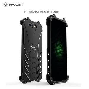 R-just phone phone case para xiaomi mi 8 / 8se / 8 explorer edição 6 6 plus 6x 5c max 3 2 mix 2s tubarão preto