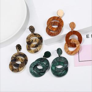 Ohrringe Acryl Langer Designer Schildkröte Essigsäure-Ohr-Bolzen Geometrische Kreis-Tropfen-Ohrringe European American Retro Vintage Ohrringe C6594