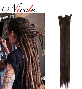 "20 ""Dreadlock Extension Nicole Ombre 5strands / Pack para 618 días Hip-Hop Synthet Synthet Brown Crochet Braiding Hecho a mano envío"