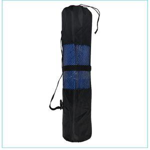 Nuevo color sólido casual yoga mat mesh bag conveniente yoga mat mochila bolsa durable support generation envío gratis