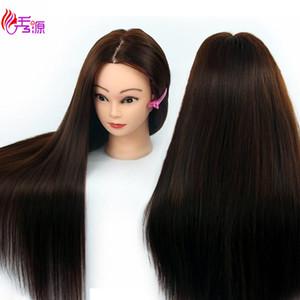 Schaufensterpuppe Kopf mit Haartraining Friseur Puppe Schaufensterpuppen Menschliche Köpfe weibliche Perücke Dummy-Kopf mit Kunsthaar