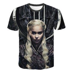 L'uomo nuovo Daenerys Targaryen Character O Collo Tshirt 3D Stampato Game Of Thrones Large Size maglietta degli uomini di svago Tee S-6XL MX200509
