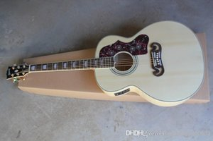 새로운 도착 점 스프루스 베이지 SJ200 6 문자열 일렉트릭 어쿠스틱 기타와 어부의 픽업 무료 배송