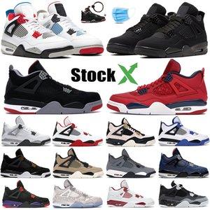 Nike air jordon retro 2019 4s Hommes Chaussures de basketball Thunder Pure Money 4 4 Athlétique Cool Grey Vol Nostalgie Militaire Bleu Créateurs de sport Sneakers