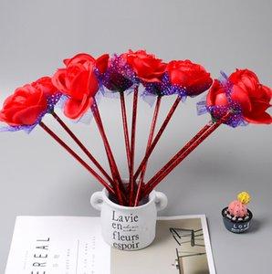 Cadeaux de noce pour Invité Fleur Rose Bille Stylos Stylos Etudiants Fille Office School Writing Pen