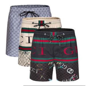 Nuevo diseñador de moda de lujo del traje de baño para hombre Pantalones cortos Joggers informal estilo de los cortocircuitos del tablero de los hombres la playa del verano Bañador de natación Hombres Deportes corto M-3XL