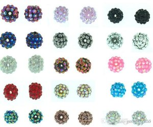100 pcs / lot 10mm 12mm white multicolor Chunky Reinstones Ball Beads crystal Basketball wive Bead bailware Finding f2424