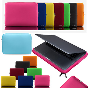 Sacoche souple pour ordinateur portable 14 pouces Sacoche pour ordinateur portable Zipper Sleeve Housse de protection Étuis de transport pour iPad MacBook Air Pro Ultrabook Sacs à main pour ordinateur portable