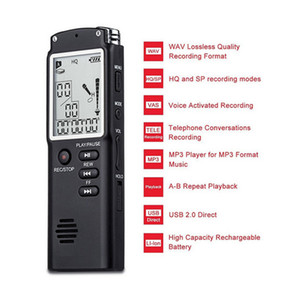 Rechargeable Digital Voice Recorder Audio Interview Pen USB Built-In Microphone Mp3 Player Activated Telephone Dictaphone VAR VO