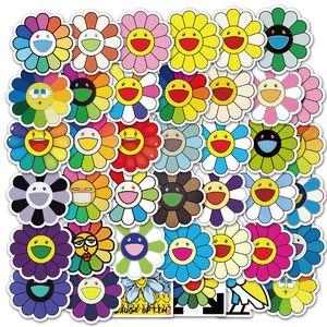 40PCS SUN الزهور وجهه ابتسامة ملصقات JDM مختلطة لالدفتري سيارة حقيبة دراجة ديكو غيتار الأزياء ملصقات الهاتف مائي لبولي كلوريد الفينيل ملصقات