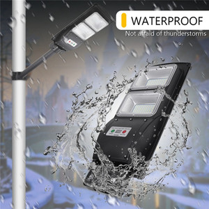 Umlight1688 Farola LED 30/60/90 W Luz solar LED Radar PIR Sensor de movimiento Lámpara de sincronización de pared + Control remoto a prueba de agua para el jardín de Plaza