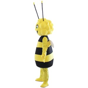 Maya the bee Mascot Costumes Animated smile bee Girls Cartoon mascot Personaggio adulto Halloween party Costume di Carnevale