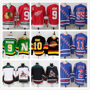 New York Rangers 99 Gretzky 2 Brian Leetch 11 Mark Messier 10 Pavel Bure 9 Gordie Howe Bobby Hull Mike Modano Hockey Jersey
