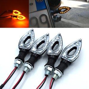 Для 2PCS Универсальный Измельчитель воды Мерцание LED мотоциклов Turn Индикаторы сигнала Мотоцикл Велосипед LED Янтарный мигалка лампа лампы