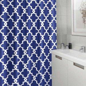 Геометрическая Полиэстер занавес ванной комнаты Корона цветок душ занавес водонепроницаемый занавески для душа печати Шторы Домашнее украшение YFA225