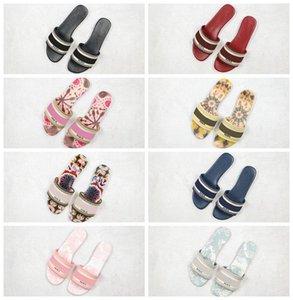 2020 D B23 Paris Ganz Nizza Sommer-Sandelholz-Strand-Slide Slipper Damen Flip Flops Loafers Print Leder Solid Color 36-40