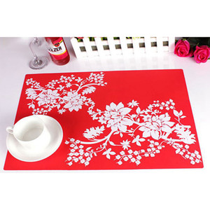 Mode Imprimer placemat Coasters Pads Table à manger Tapis Antiderapant Isolation thermique Table à manger Tapis Tapis napperons en silicone gros DBC BH3820