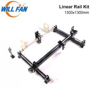 Will Fan 1300x1300mm hg15 Guia Linear Rail Mecânica Kit Componente Monte DIY CNC 1313 Co2 Laser Engraving Cortador de máquina