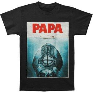 Otantik HAYALET Bant Papa Emeritus II Jaws Logo Tişört Casual gurur t gömlek erkekler Unisex New Fashion ücretsiz tişört Soğuk