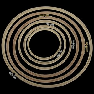 Practical 8-40cm Cross Stitch Machine Bamboo Frame Embroidery Hoop Ring Round Hand DIY Needlecraft Household Sewing Tool