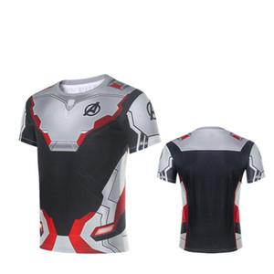 Avengers 4 Quantum Battlesuit Concept 3D Print Short Sleeve Anime Cospaly Macho Sportswear