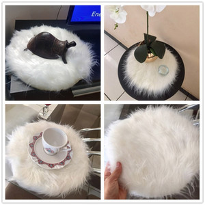 Rug Soft Artificial Sheepskin Rug Chair Cover Artificial Wool Warm Hairy Carpet Seat Pad for home Enfeites De Natal Nov#3