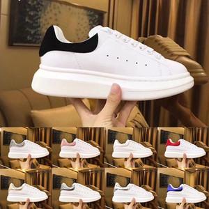 2020 Diseñador de terciopelo negro MQ cuero auténtico zapatos casuales para hombre Hermosa aumento de mujeres de la plataforma formadores de lujo vestido de zapatos a estrenar las zapatillas de deporte