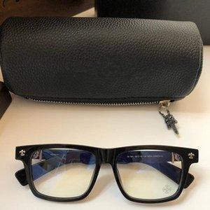 BOX occhiali pranzo per uomini donne popolari progettista vetri unisex Retro Style Rettangolo telaio dell'ottica Lens superiore prossimo con il caso