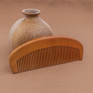 1pcs Natural Peras de madera peine peine de bolsillo Barba Comb 14 * 5.2 * 1.2cmcm envío libre