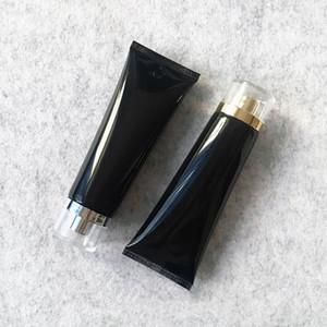 100g de plástico preto Creme cosmético Bottle 100ml Facial Tubo Cleanser Loção Hotel Abastecimento Shampoo Embalagem Garrafas