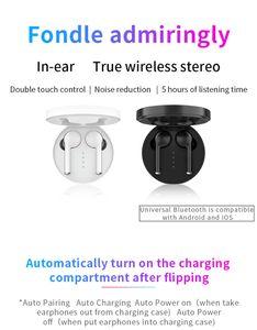 La gota que envía el auricular TW40 gemelos táctil de control inalámbrico Bluetooth Wireless Headset auriculares Bluetooth 5.0 Para todos los teléfonos inteligentes