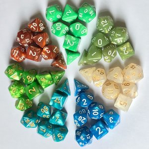 7pcs DHL / set parteggiato Polyhedral Dice per RPG MTG Dungeons Dragons DND D4-D20 Cancella partito Dadi Tabella Club Game Dice Set M511YF