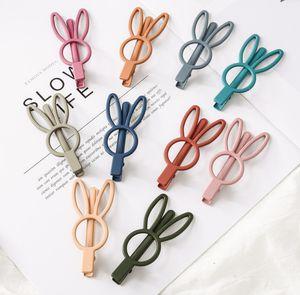 Chicas linda horquillas conejo boutique de los niños de color caramelo hueco barrettes conejito fiesta de cumpleaños pinza de pelo de los niños accesorios para el cabello niñas F5188